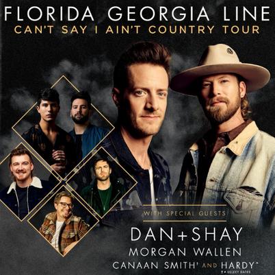 Florida Georgia Line, Dan and Shay & Morgan Wallen at Lakeview Amphitheater