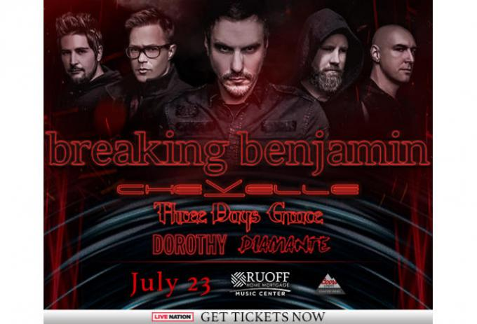 Breaking Benjamin, Chevelle & Three Days Grace at Lakeview Amphitheater